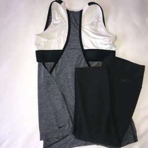 BUNDLE Nike Pro 2in1 Tank + Nike Dri-Fit Capri